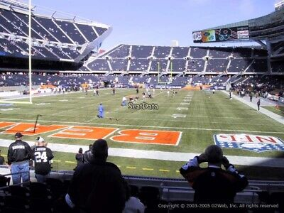 2 Chicago Bears vs New Orleans Saints tickets 11/1-3 Rows from the Field!!!!
