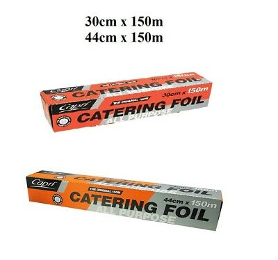 All Purpose Aluminium Caterers Foil Wrap Roll Dispenser Pack 150m Brand New BULK