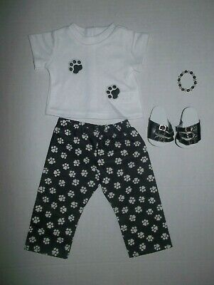 """Dogs paw prints  doll clothing doll clothes fits 18"""" American Girl or boy doll"""