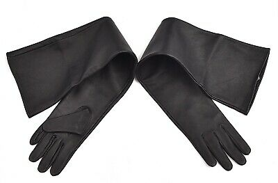 54cm Long Genuine Leather Opera Length Party plain Evening Elbow Gloves