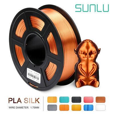 SUNLU 3D Printer Filament PLA Silk Copper  1.75mm 1kg Spool Supplies No Bubble