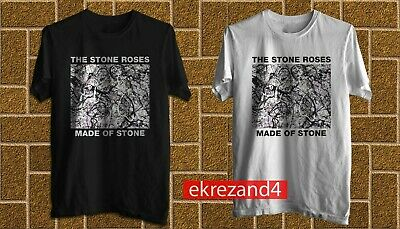 The Stone Roses Rock Band Made Of Stone T-Shirt Cotton 100% S-2XL Fast Shipp