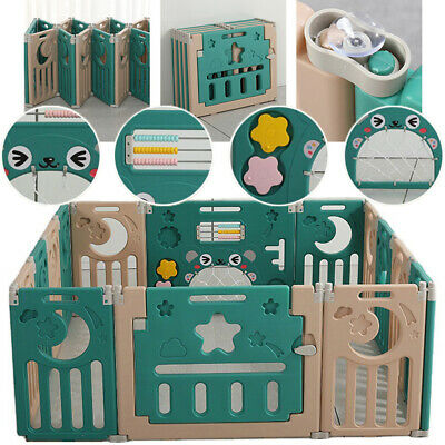 Baby Playpen Kids Activity Centre Safety Play Yard Home Indoor Outdoor 16 Panel
