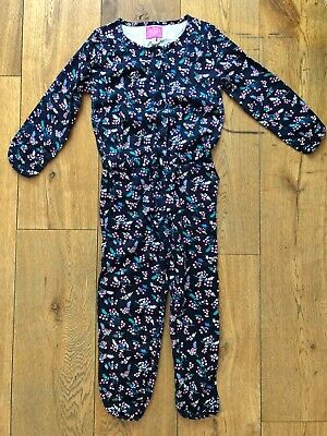 Joules Girls Luanna Navy Floral Playsuit, BNWT Age 5 (up to 110cm)