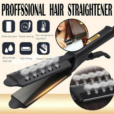 Professional Salon Ceramic Tourmaline Steam Ionic Flat Iron Hair Straightener ER