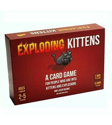 Exploding Kittens Original Edition Card Game - Brand New & Sealed
