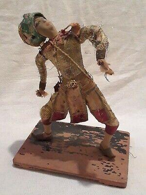 "Vintage Antique Primitive Japanese Samurai Masked Warrior 11 1/2"" Bangkok Doll"