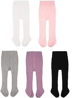 Cozyway Baby Girls Tights Cable Knit Leggings Stockings Cotton 3/5 Pack Pantyhos