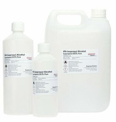 Isopropyl Alcohol 99.9% PURE Isopropanol IPA Disinfectant Sanitiser Cleaner