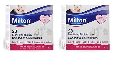 2 x Milton Sterilising Tablets (28 Pack). Total of 56 Tablets. Home & Baby.