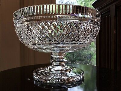 "Waterford Irish Crystal Period Collection 7 3/8"" Footed Bowl / Original Ireland"