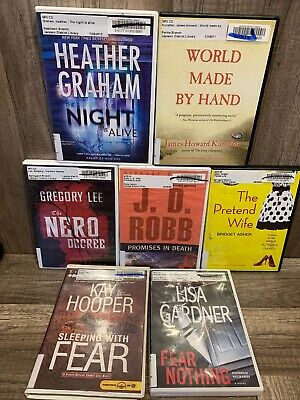7 audiobook LOT books on MP3 CD audio book By Various authors and genres Lot 22