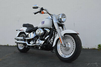 2010 Harley-Davidson Softail FatBoy FLSTF COLLECTIBLE UNIQUE MEMORABILIA WOW!! Custom Painted In NY Giants Colors Signed By Many Players From The 2010 Team