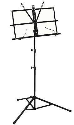 Tetra-Teknica EMS-04 Portable Folding Sheet Music Stand with Carry Bag, Color Bl