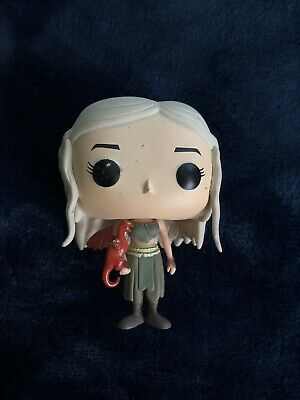 Funko Game of Thrones 03 Daenerys Targaryen with Red Dragon Loose SEE PICS
