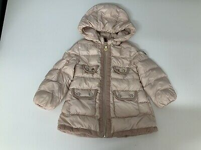 Moncler Baby Girls Padded Coat, Jacket, Size Age 18-24 Months, Pink, GC