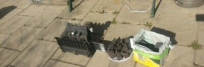 Cast Iron Gas Fire, Burner, Coal And Front Covering. Can Be Used Without Mantle