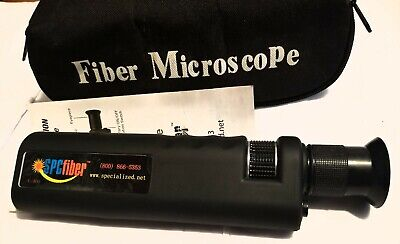 SPCfiber-C400 Coax Illum Optical Fiber Microscope 400x w/2.5 mm Adptr