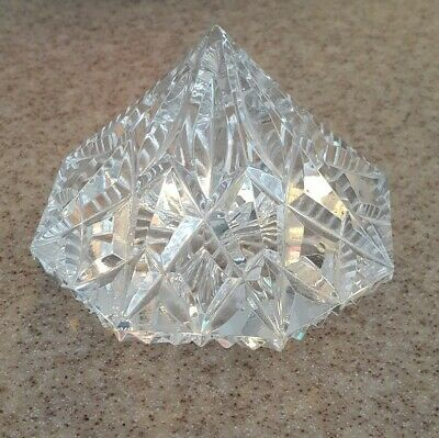 Waterford Lismore Crystal Diamond-Shaped Paperweight