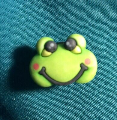 Cute FROGGY Face Frog Bull Frog Toad Ribbit Croc Hole Accessories Shoe Charm
