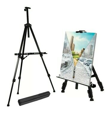 """T-Sign 66"""" Reinforced Artist Easel Stand, Extra Thick Aluminum Metal Tripod..."""