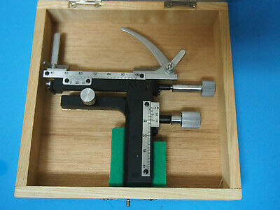 Attachable Mechanical Stage X-Y Movable Stage with 0-60mm Scale Microscope JAPAN