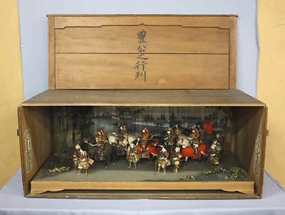 Japanese Antique Boys Samurai Dolls Taisho Era 1915 March of Hideyoshi Toyotomi