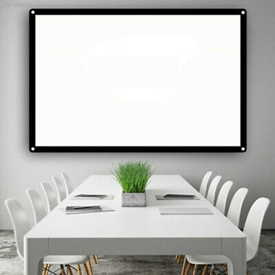 156E White + Black 16:9 Projection Screen Projector Curtain Home Theater Office