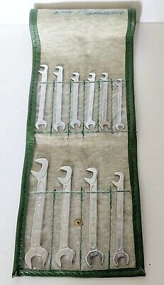 Cased Set Of 10 Small German Stahlwille Spanners