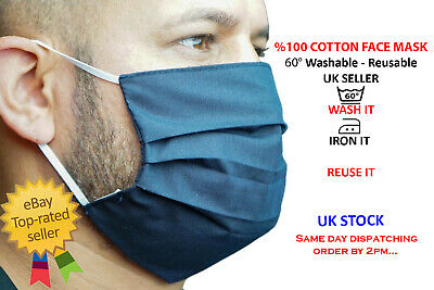 Washable and Reusable face mask UK SELLER  %100 Cotton wholesale