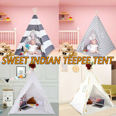 Portable Playhouse Sleeping Dome Indian Teepee Tent Children Play House Lot