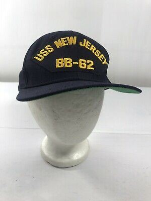 Flexfit flex fit BASEBALL Military Cap Hat USS NEW JERSEY BB-62 SHIP
