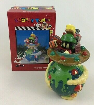 Looney Tunes Figurine Candle Christmas Marvin The Martian Matrix Vintage 1996