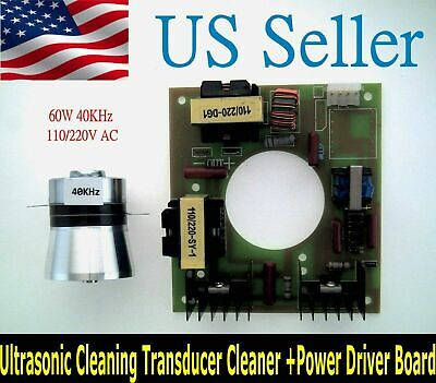 60W 40KHz Ultrasonic Cleaning Transducer Cleaner With Power Driver Board 110VAC