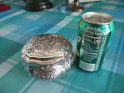 Euro-Silver. 800, Lidded Footed Box