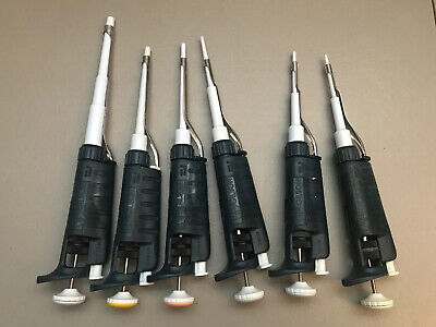 Nice (Set x6) Large Plunger Gilson Pipetman Pipette P2,P10,P20,P100,P200,P1000