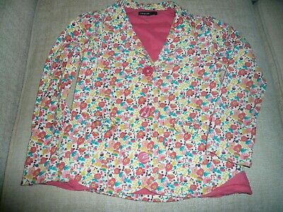 AUTOGRAPH cord Jacket M&S Age 6 - 7 Years GIRLS VGC floral orange/yellow