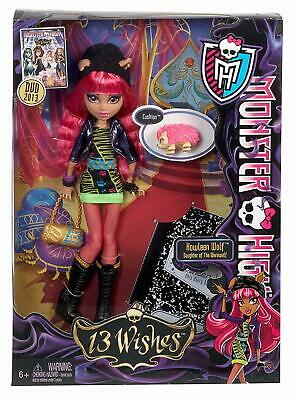 Monster High 13 Wishes Howleen Wolf Doll Delux New In Box Bnwt