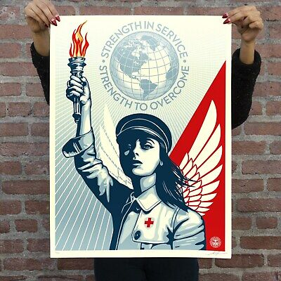ANGEL OF HOPE AND STRENGTH ~ OBEY/Shepard Fairey SIGNED & NUMBERED PRINT In HAND