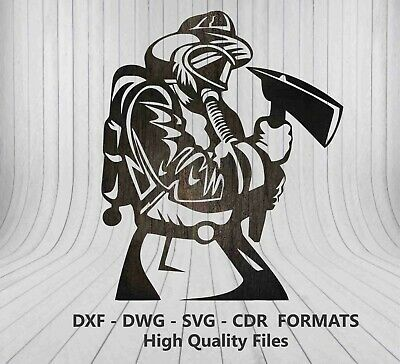 DXF for CNC of PLASMA Laser Cut - CNC Vector DXF-CDR -  Firefighter