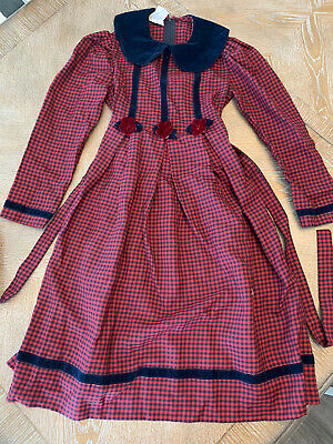 bonnie jean long sleeve girls dress size 7 Red And Black Plaid