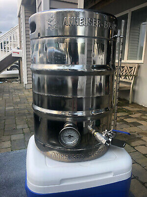 BIAB Homebrew Polished Keggle 15.5 gallon with valve and thermometer