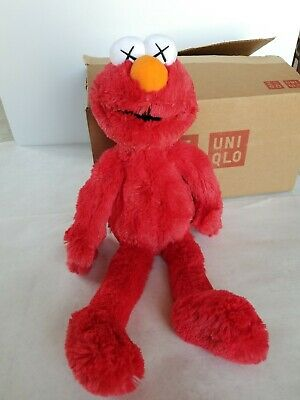 NEW Uniqlo KAWS Sesame Street ELMO Plush Doll Toy Authentic