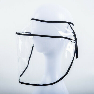Safety Full Face Shield Face Mask Shield Empty Top Clear For Use On Hat