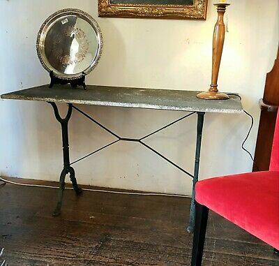 Marble Antique Garden Table Iron Hall France French Stone