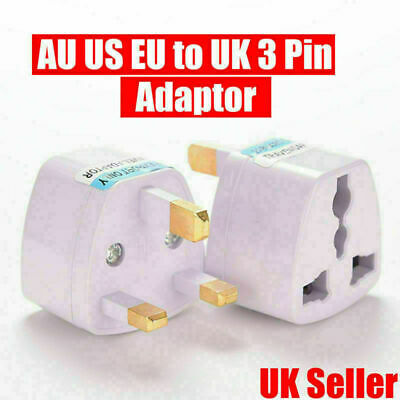 EU 2 Pin To 3 Pin UK Euro European Electric Shaver Adapter Plug Travel Charger