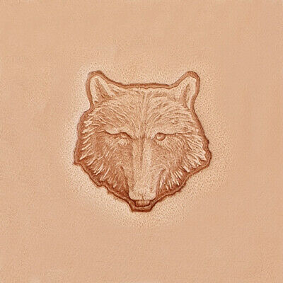 3D Stempel Wolfskopf Leder Tandy Leather 88459-00