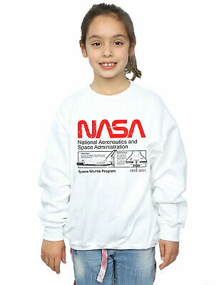 NASA Girls Classic Space Shuttle Sweatshirt