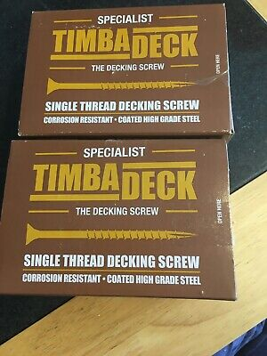 Timbadeck Countersunk Carbon Steel Decking Screws 4.5 x 75mm Pack of 100