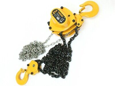 3 Ton Mechanics Chain Lift Block Hoist Engine Tackle Heavy Duty Lifting Pulley